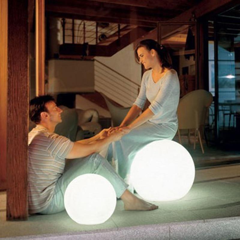 أضواء في الهواء الطلق LED حديقة كرات إضاءة التحكم عن بعد الطابق مصباح حديقة الشارع حمام سباحة الزفاف إضاءة للتزيين ضوء المزاج