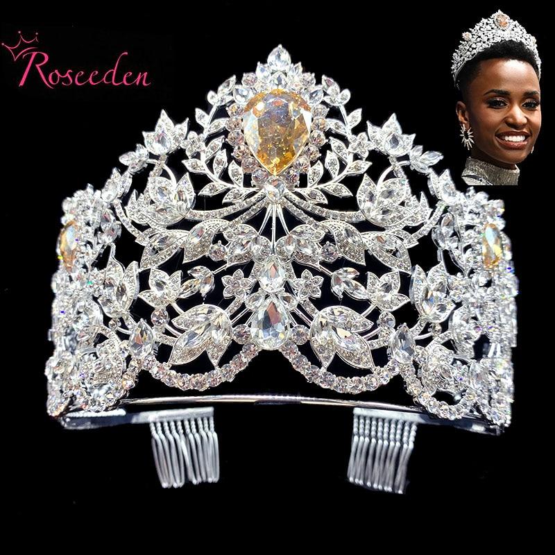 2020 concurso de Miss Universo Tiaras coronas lágrima grande de cristal princesa diadema señorita Sudáfrica concurso Tiara RE3706