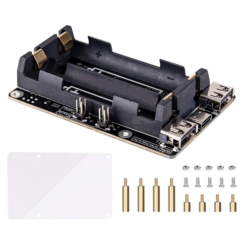 ل Raspberry Pi 4 UPS امدادات الطاقة دون انقطاع UPS قبعة 18 650 بطارية احتياطية امدادات الطاقة إدارة لوح تمديد