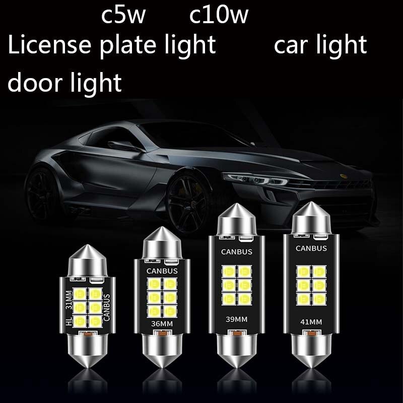 Bombilla LED Canbus para Interior de coche, luces para matrícula 3014 SMD,...