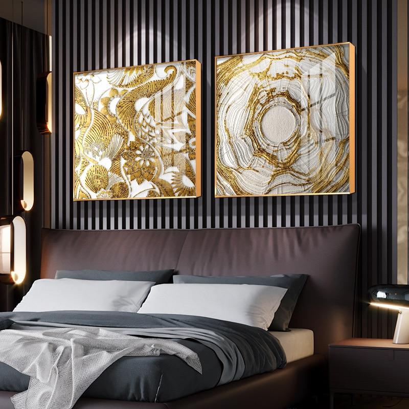 Sala de Estar Pintura de Luxo Pintura de Fundo de Porcelana de Cristal Moderna Decoração Pintura Simples Abstrato Luz
