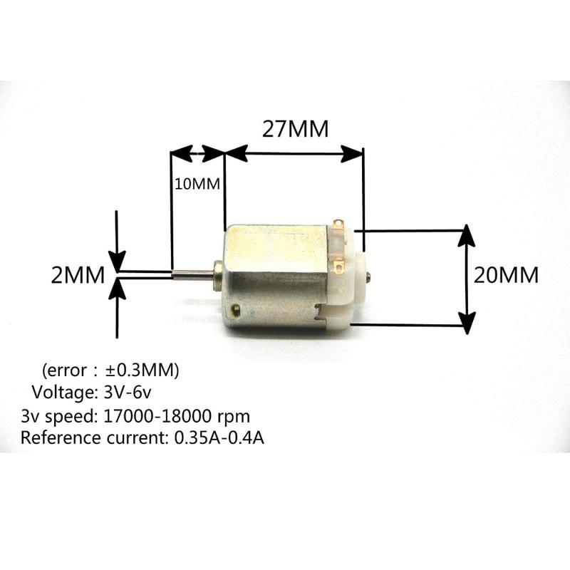 130 dc motor Small DC motor 3V-6V Miniature motor four-wheel motor small