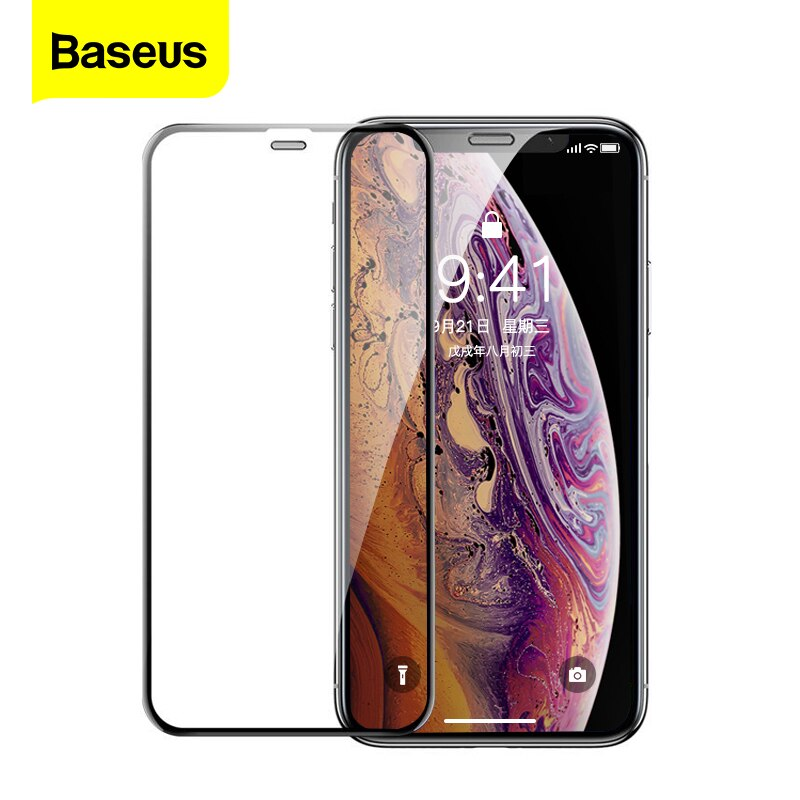 Защитная пленка для экрана Baseus 0,3 мм для iPhone 11 Pro Xs Max X Xr, защитная пленка из закаленного стекла для iPhone 11