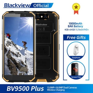 Blackview BV9500 Plus Helio P70 восьмиядерный смартфон 10000 мАч IP68 Водонепроницаемый 5,7 дюймов FHD 4 Гб + 64 ГБ Android 9,0 мобильный телефон