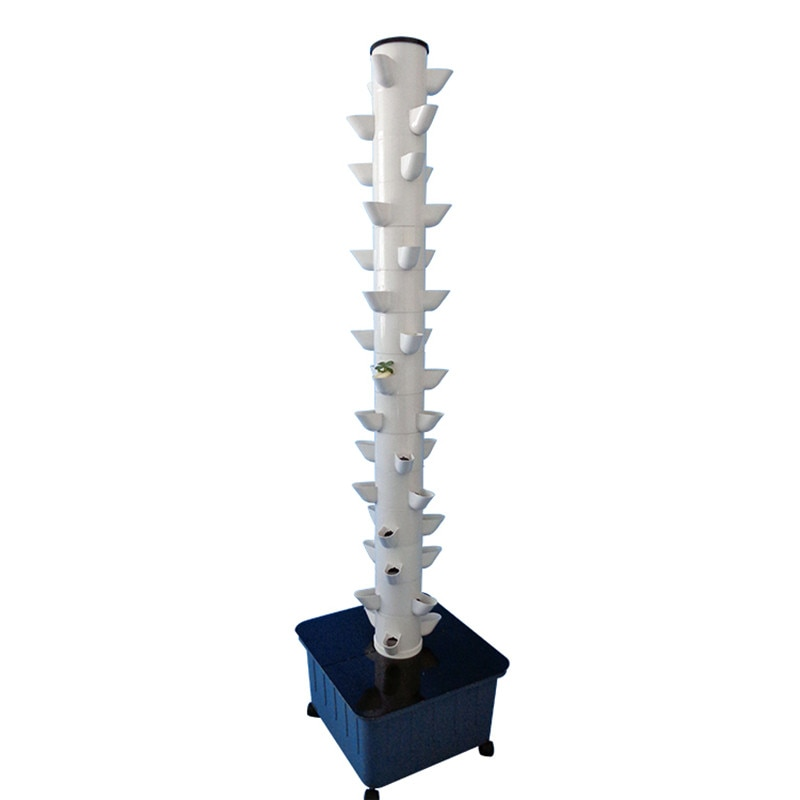 Home Garden Vertical Tower Farming Indoor and Outdoor NFT Complete Hydroponic Growing Systems Kit with 15 Layers 45 Plant Sites