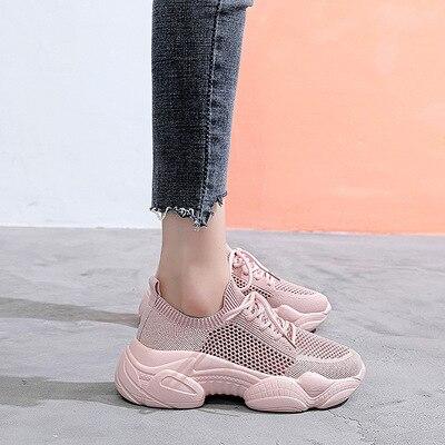 Летние сетчатые дышащие спортивные туфли с вырезами разнообразные повседневные популярные модные женские туфли в стиле интернет-знаменит...