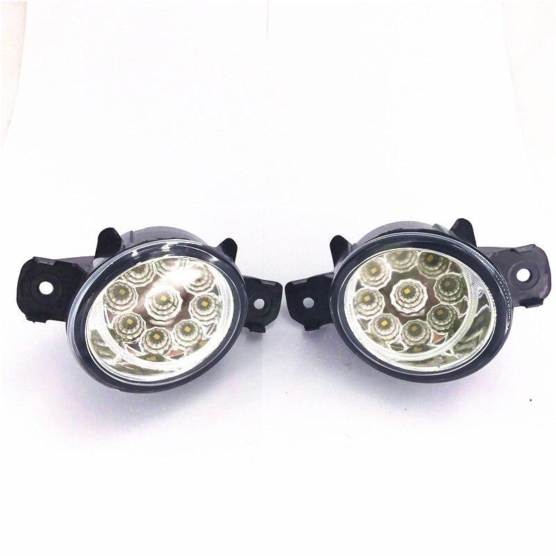 Conjunto de lámpara antiniebla, luz antiniebla superbrillante para Nissan Dualis El grand Bluebird Grand Livina 2002-2015, 1 juego de luces Led antiniebla
