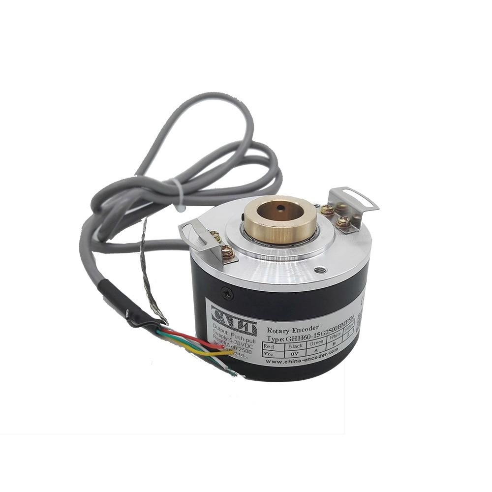 CALT GHH60-10G--BML5 series 10 mm hollow shaft optical rotary encoder 5V line driver output 500 1000 1024 2000 2500 ppr pulse calt ghs4006 series pulse reading mechanical rotary encoder 40mm size npn linear encoder sensor