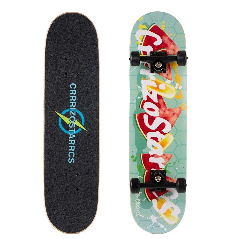 Profesional Skateboard Adolescent Wear Resistant Wooden Colourful Skateboard for Adults Tablas De Skate Roller Skateboard EI50SA
