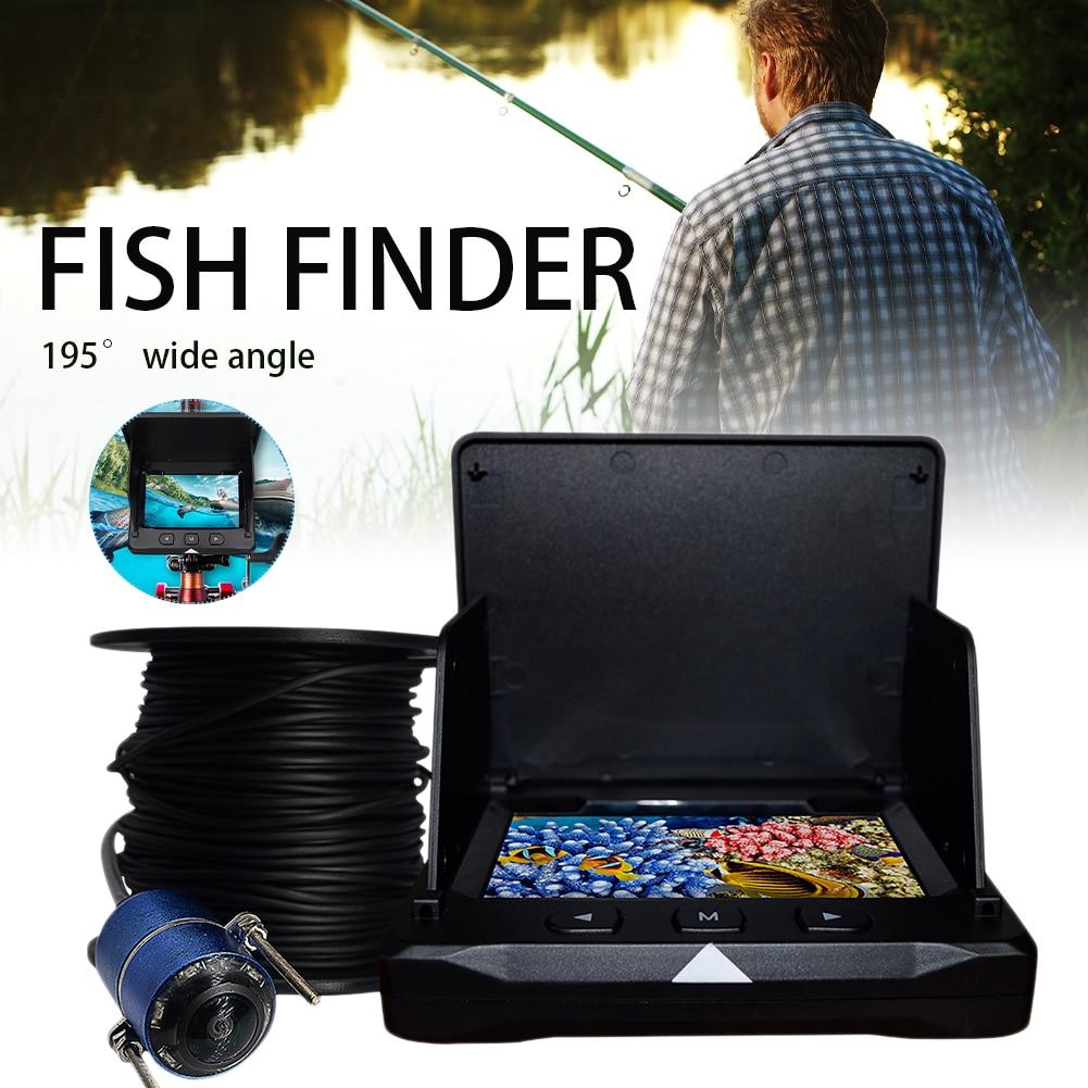 4.3 Inch Monitor Underwater Fishing Camera 1000TVL 195° Wide Angle Infrared Night Vision Monitoring Fish Finder Camera Recorder