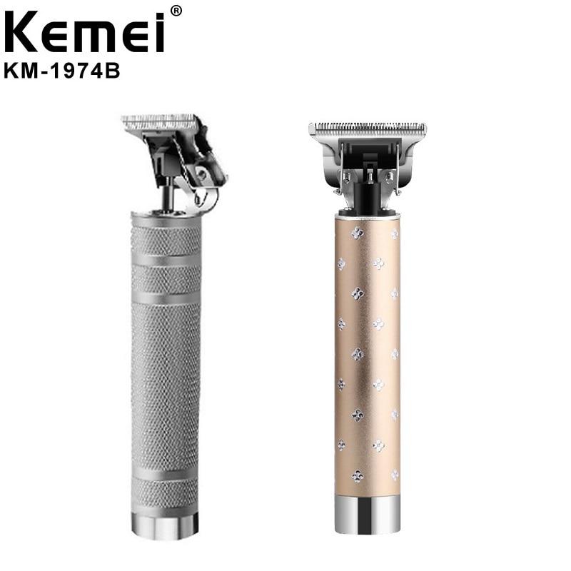 ¡Nuevo! Cortadora de pelo Kemei 1974B, recortadora inalámbrica para hombres de 0mm, cortadora de pelo tallada con cabeza de aceite y cabeza Máquina para cortar cabello