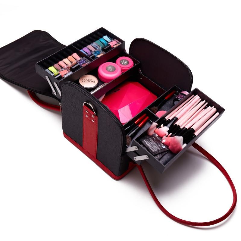 Neceser de Maquillaje para Mujer, bolsa organizadora de cosméticos, bolso de Maquillaje...