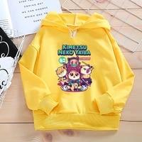 kids sweatshirts hoodies demon slayer kimetsu no yaiba baby boys girls autumn spring hoodie tops clothes childrens clothing