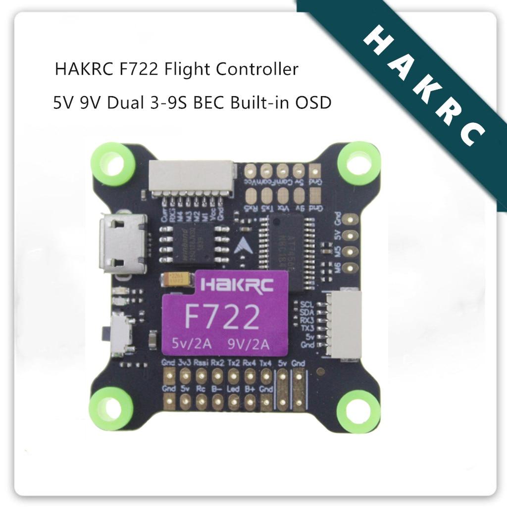 HAKRC F722 Flight Controller 5V 9V Dual BEC OSD 3-9S For RC FPV Racing Drone