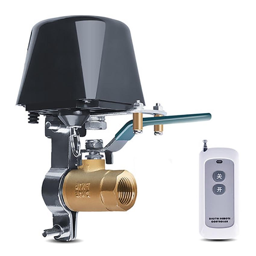 DC 12V Smart Valve Switch Remote Control Water/Gas Valve, 100M Long Range, Adjustable Bracket, Waterproof Shut Off Valve