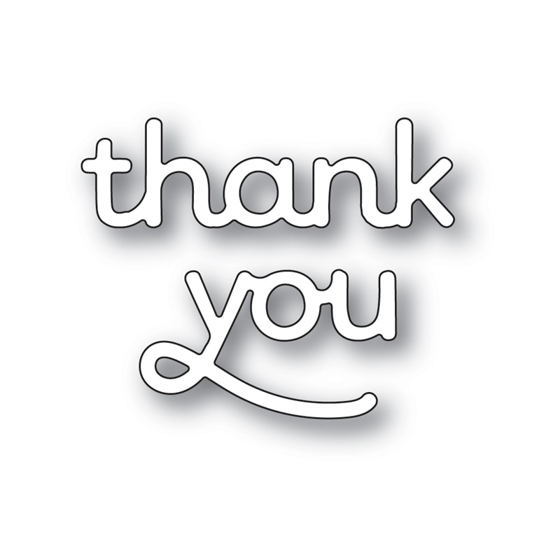 Thankyou Words 2021 New Arrival Metal Cutting Dies Scrapbooking Album Halloween Decorat Stencil Frame Card Craft No Clear Stamps