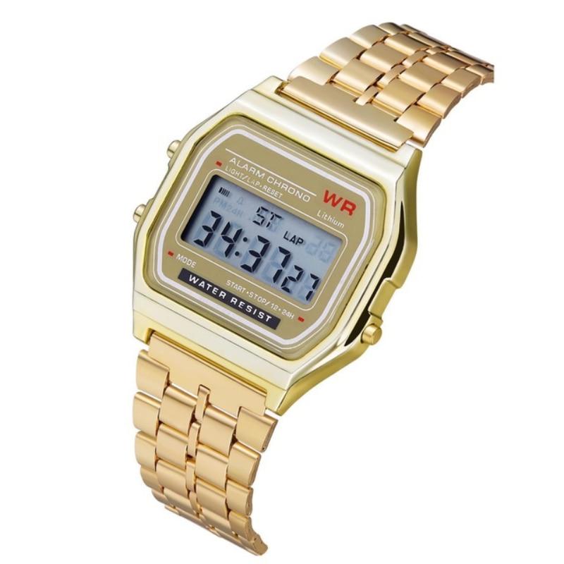 AliExpress - Women Men Unisex Watch Gold Silver Black Vintage LED Digital Sports Military Wristwatches Electronic Digital Present Gift Male