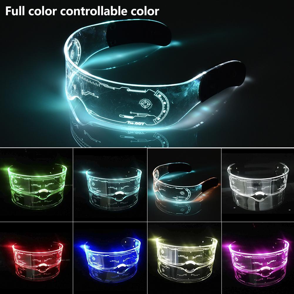Colorful EL Luminous Glasses Led Light Up Visor Eyeglasses for Bar KTV Christmas Birthday Party New