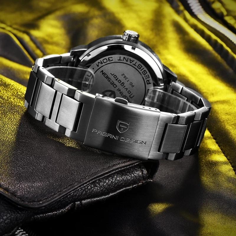 PAGANI DESIGN Punk 3D Skull Personality Retro Fashion Men's Watch Waterproof 30m Steel Stainless Quartz Watch Relogio Masculino enlarge