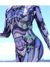 Newest Alita Battle Angel Cosplay Costume 3D Print Lycra Spandex Woman Alita Movie Cosplay Halloween Costumes for Woman
