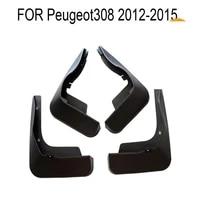 4 pcs set molded mud flaps mudflaps splash guards front rear mud flap mudguards fender for peugeot 308 2012 2015 yc101117