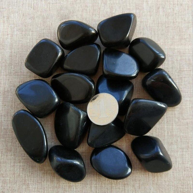 Obsidian-piedras preciosas de cristal redondeado grande, piedras naturales de cuarzo, cristal mineral...