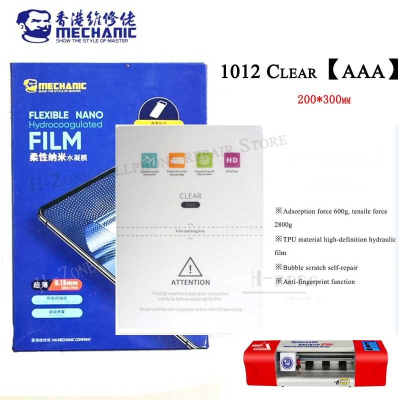Folhas do Telefone Móvel dos Filmes Máquina do Corte para o Ipad com Código de Corte Aaa do Mecânico 1012 para S760 S730 e a Outra Hidráulicos Claros Pces 20