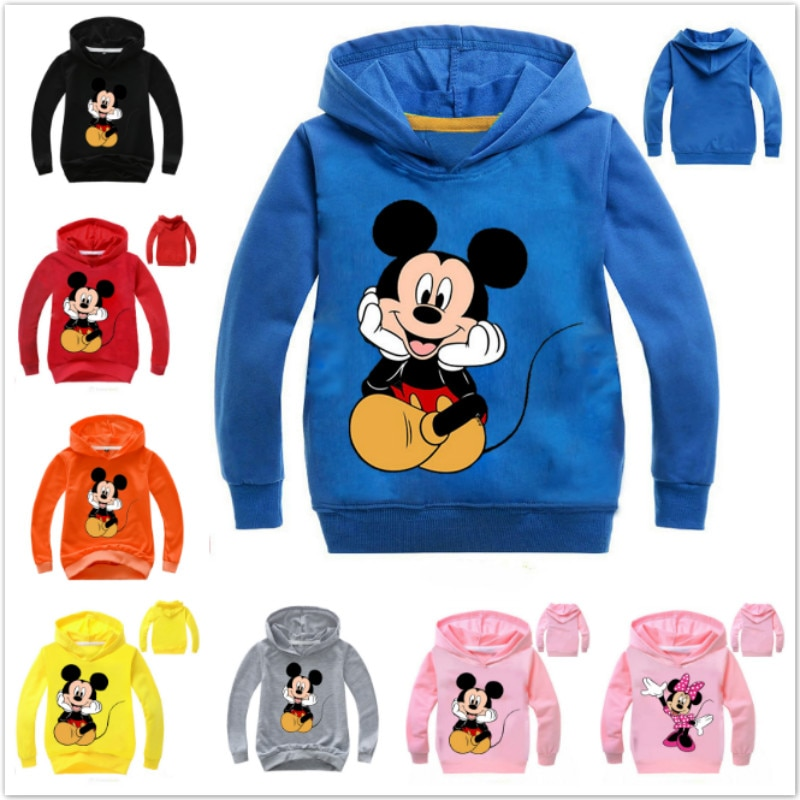 Mickey Mouse hoodie t shirt baby girls toddler boy clothes girls long sleeve clothes Sweatshirt children hoodies clothing kids