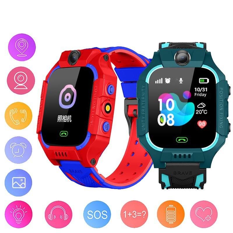 Nuevo reloj inteligente Q19, reloj inteligente para niños con posicionamiento GPS, teléfono móvil SOS, pantalla táctil a Color de 1,44 pulgadas, reloj a prueba de agua