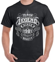 premium legend since 1981 39th birthday mens funny t shirt 39 year old top