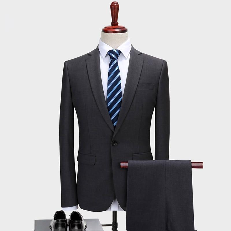 Mensuit nueva chaqueta blanca delgada pantalones negros diseño personalizado novio boda traje...