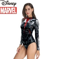 disney cartoon marvel avengers european and american long sleeved swimsuit steel bone adult swimwear womens one piece