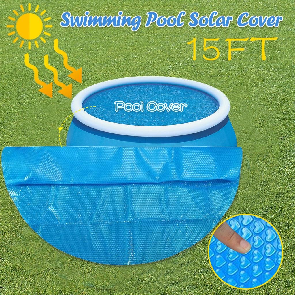 Ronda de natación piscina cubierta polvo Protector impermeable 15ft pie sobre suelo Azul protección piscinas para jardín piscina #45