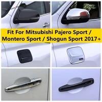 door handle fuel tank cap rearview mirror cover trim for mitsubishi pajero sport montero sport shogun sport 2017 2021