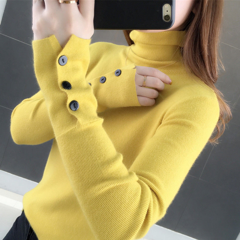 Woman Sweaters Thick Turtleneck Sweater Women's Autumn and Winter plus Size Knitwear Women's Top  Femme Chandails Pull Hiver
