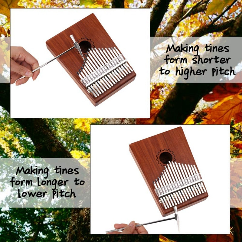 Kalimba Thumb Piano 17 Keys With Mahogany Wooden With Bag, Hammer And Music Book, Perfect For Music Lover, Beginners, Children enlarge