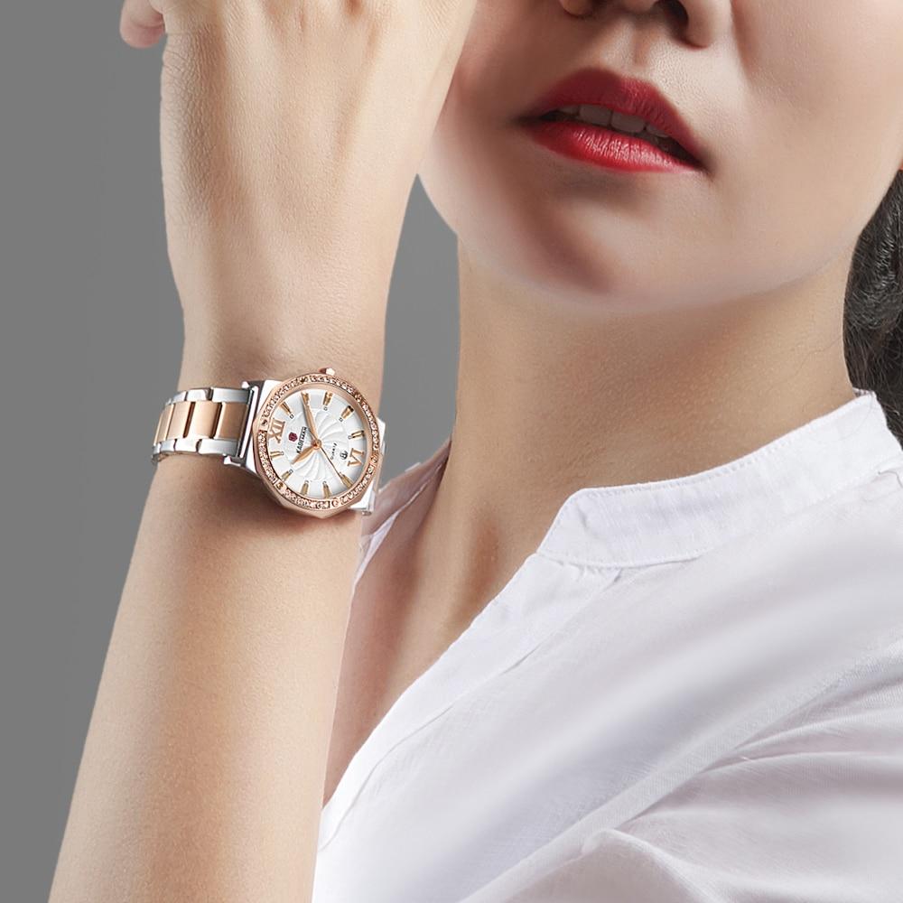 KADEMAN Women Watches Fashion 2020 Top Luxury Brand Diamond Quartz Ladies Watch Date 30M Waterproof Wrist Watch Gifts For Women enlarge