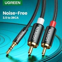 UGREEN-RCA 케이블 HiFi 스테레오 2RCA 3.5mm 오디오 케이블 AUX RCA 잭 3.5 Y 스플리터 앰프, 홈 시어터 케이블 RCA