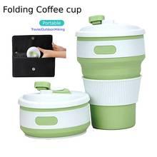 350ML Creative Custom Gift Silicone Folding Coffee Cup Foldable Silicone Cup Silicone Telescopic Cup Water bottle