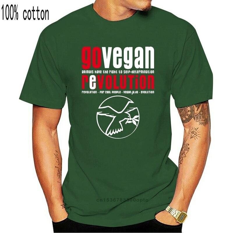 Go vegan revolution men topos & t preto camisa gráfica águia camiseta personalizado camisolas cabidas casual tshirts por atacado