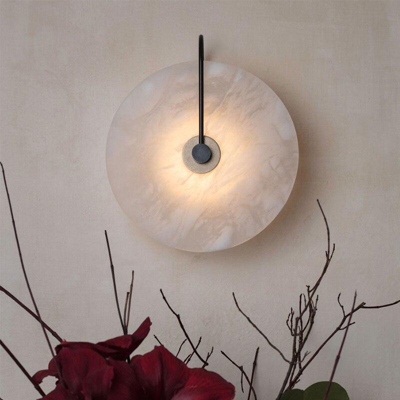 Lámpara de Novedad led zerouno para dormitorio, sala, porche, hotel, loft, decoración de pared, lámpara de mármol única, lámpara led de viruta