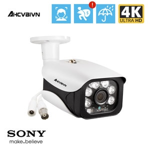 8.0MP CCTV Camera 5MP 3.6MM HD Lens 90 Degree Panoramic AHD Camera Night Vision Waterproof Outdoor 1PCS Bullet Camera 4K