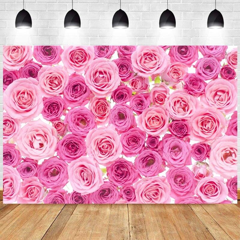 Цветы розы настенный фон для фотосъемки свадьбы с днем рождения вечерние детского дня рождения с цветочным рисунком фото фоновый реквизит ...