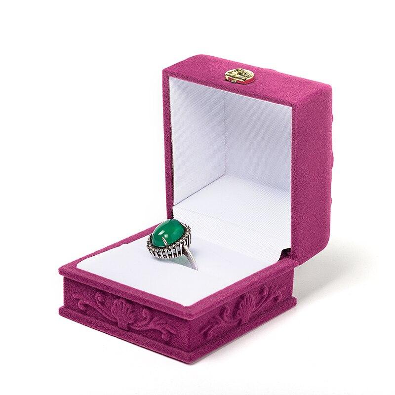 Bump Retro Popular Engagement Organizer Storage Accessories Wedding Rose Velvet Jewelry Box Display Gift