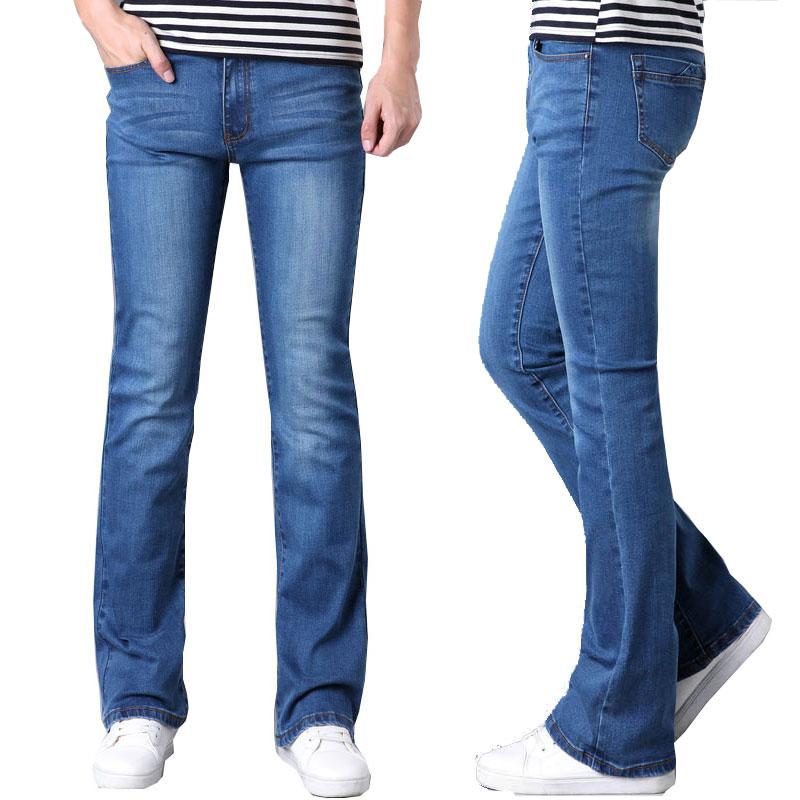 Джинсы для мужчин 2020 новые Modis мужские микро-трубы синие джинсы Тонкий стрейч Корейский прилив джинсы для байкеров расклешенные брюки разме...