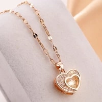 heart pendant stainless steel gold necklace for women neck chain choker 2021 korean fashion jewelry wholesale item free shipping