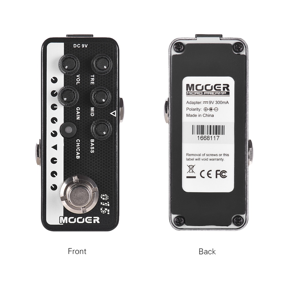 Mooer 015 Brown Sound Digital Preamp Pedals Guitar Pedal Electric Guitars Effector 3-Band Eq Micro Preamp 90S Pedal Musical enlarge
