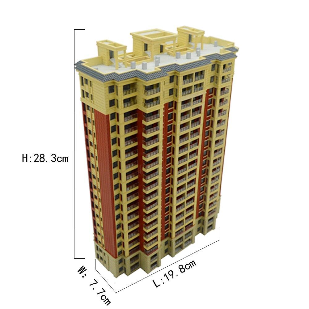 1PC 1:200 Scale Sandtable Model Building City Landscape Model ABS Architectural Building  Gift  Toys