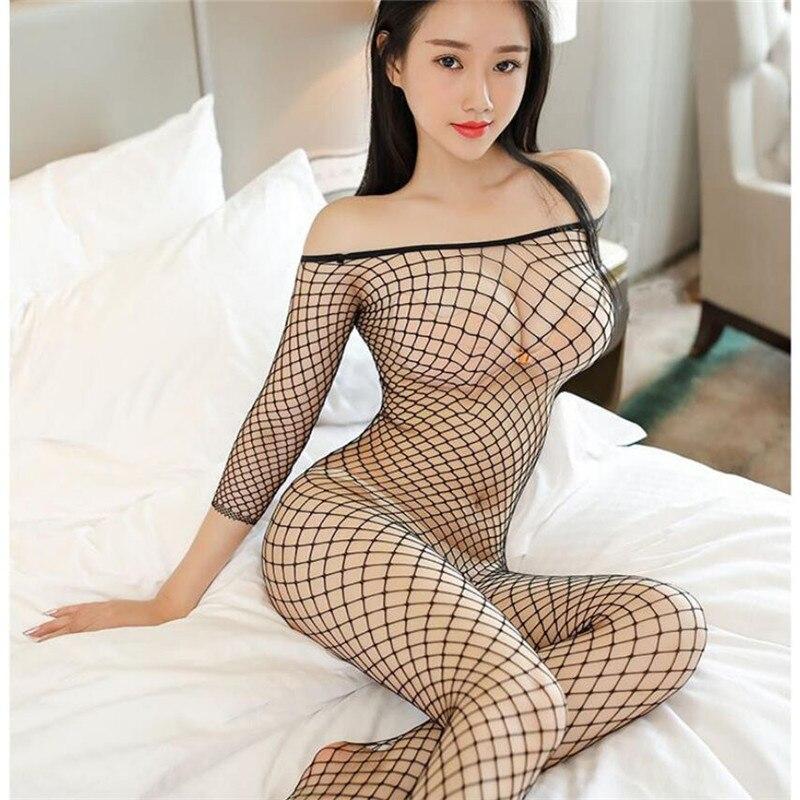 Porno de bebé muñeca lencería Sexy de talla grande ropa sexo transparente Lencería erótica para las mujeres hueco de malla Sexy, disfraces,