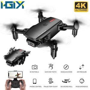 HGIYI P2 мини-Дрон Wifi FPV 480P 4K HD Двойная камера режим удержания высоты складной рычаг RC Квадрокоптер Дрон селфи дроны игрушка S66 E58